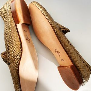Cole haan flats - woven gold 5.5 - NEW